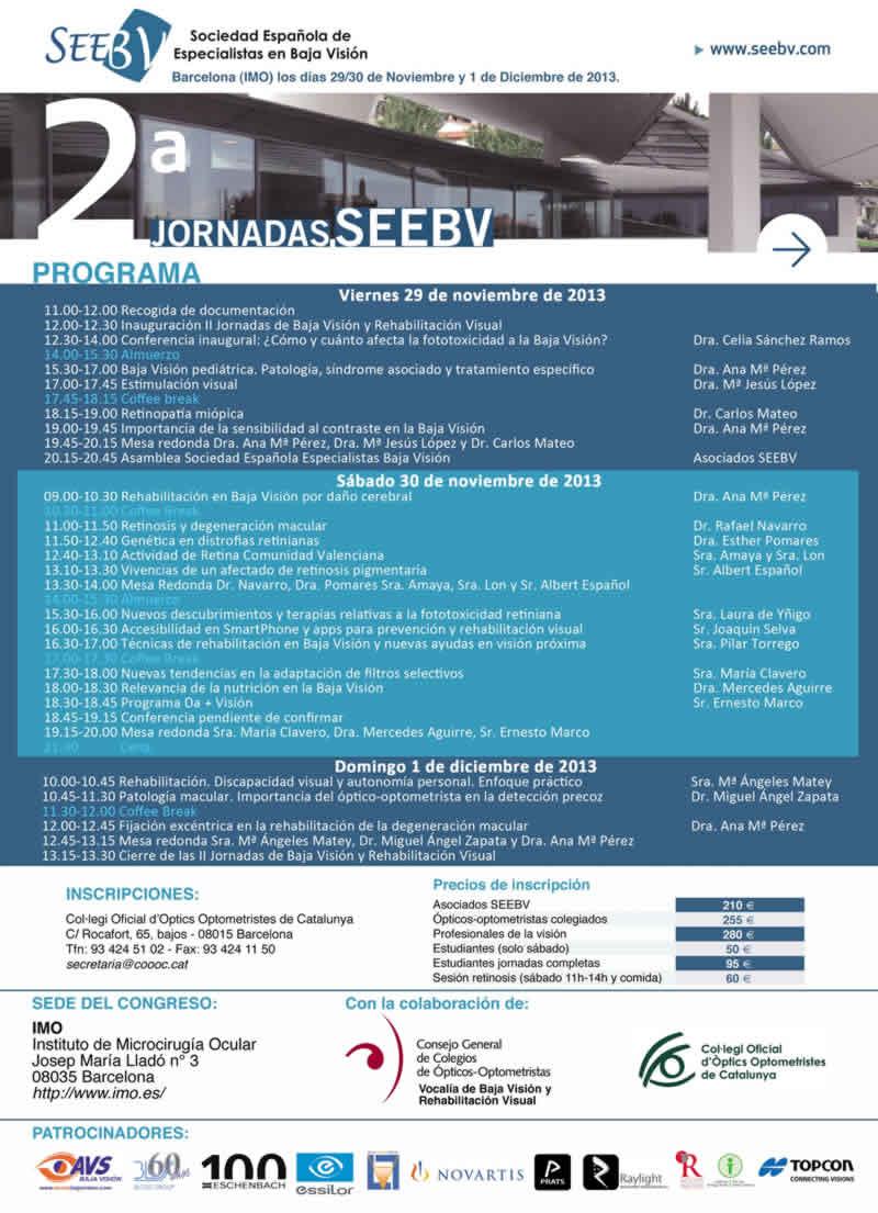 Programa SEEBV Noviembre 2013